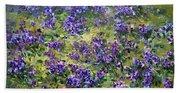 Wild Violets  Beach Towel