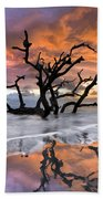 Wildfire Beach Towel by Debra and Dave Vanderlaan