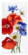 Wildflower Arrangement Beach Towel