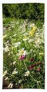 Wildflower Garden And Path To Gazebo Beach Towel