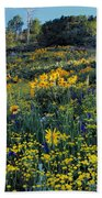 Wildflower Hillside Beach Towel