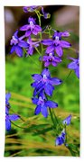 Wildflower Larkspur Beach Towel
