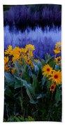 Wildflower Reflection Beach Towel