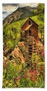 Wildflowers At Crystal Beach Towel by Adam Jewell