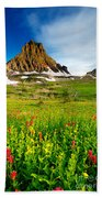 Wildflowers At Logan Pass Beach Towel