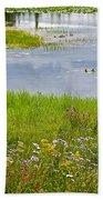 Wildflowers By Heron Pond In Grand Teton National Park-wyoming Beach Towel