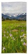 Wildflowers In Rocky Mountain National Park Beach Towel