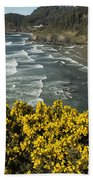 Wildflowers On An Atypical Winter's Day On The Oregon Coast Beach Towel