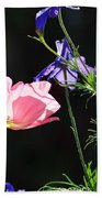 Wildflowers On Black Beach Towel