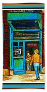 Wilenskys Art Famous Blue Door Posters Prints Cards Originals Commission Montreal Painting Cspandau  Beach Towel