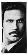 Will Ferrell Anchorman The Legend Of Ron Burgundy Drawing Beach Towel
