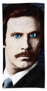 Will Ferrell Anchorman The Legend Of Ron Burgundy Words Color Beach Sheet