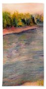 Willamette River Reflections - Morning Light Beach Towel