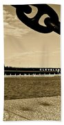 William G Mather In Sepia Beach Towel