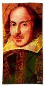 William Shakespeare 20140122 Beach Towel