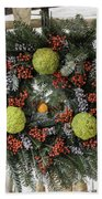 Williamsburg Wreath Squared Beach Towel