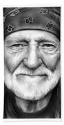 Willie Nelson Beach Towel