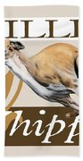 Willie The Whippet Beach Towel by Liane Weyers