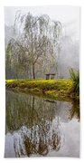 Willow Tree At The Pond Beach Towel
