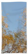 Willows And Sky Beach Towel