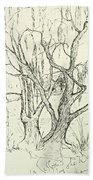 Willows By The Lake Beach Towel