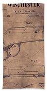 Winchester Rifle Patent Beach Towel