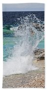 Wind And Waves Beach Towel