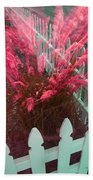 Wind In The Grass - Red Beach Towel