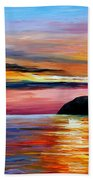 Wind Of Hope - Palette Knife Oil Painting On Canvas By Leonid Afremov Beach Towel