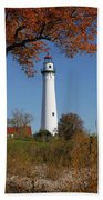 Wind Point Lighthouse 74 Beach Towel