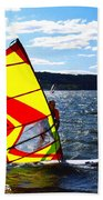 Wind Surfer II Beach Towel