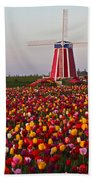 Windmill Of Flowers Beach Towel