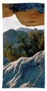 Window Arch City Of Rocks Idaho Beach Towel
