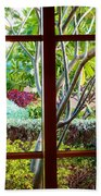 Window Garden Beach Towel