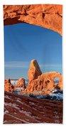 Window To Turret Arch Beach Towel