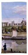 Windsor Castle From Across The Thames Beach Towel