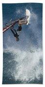 Windsurfer Hanging In Beach Towel