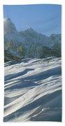 1m9342-windswept Snow Beach Towel