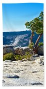 Windswept Tree On Top Of Sentinel Dome In Yosemite Np-ca Beach Towel