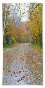 Windy And Rainy Fall Day Beach Towel