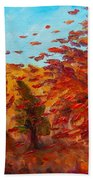 Windy Autumn Day Beach Towel