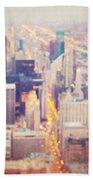 Windy City Lights - Chicago Beach Towel