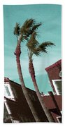 Windy Day By The Ocean  Beach Towel