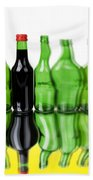 Wine Bottles Beach Towel