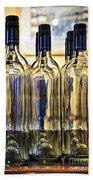 Wine Bottles Beach Towel by Elena Elisseeva