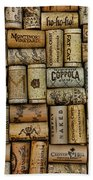 Wine Corks After The Wine Tasting Beach Towel by Paul Ward