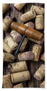 Wine Corks Celebration Beach Towel