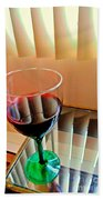 Wine Glass Beach Towel