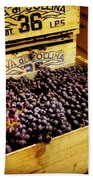 Wine Grapes Beach Towel