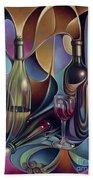 Wine Spirits Beach Towel